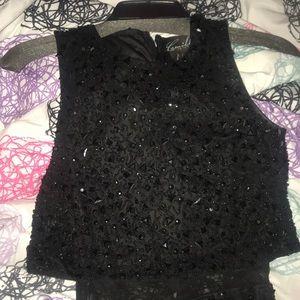 Sole La Vie Dresses - Black bejeweled formal gown